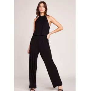 Issue New York Black Cold Shoulder Ruffle Jumpsuit